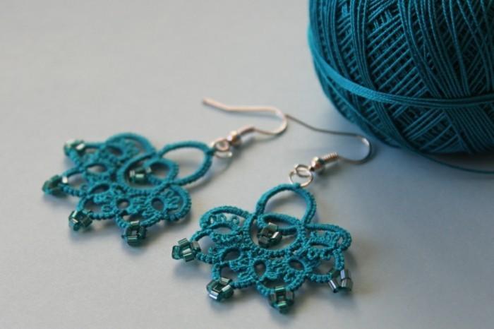 Boucle d oreille crochet bijoux la mode - Tuto boucle d oreille perle ...