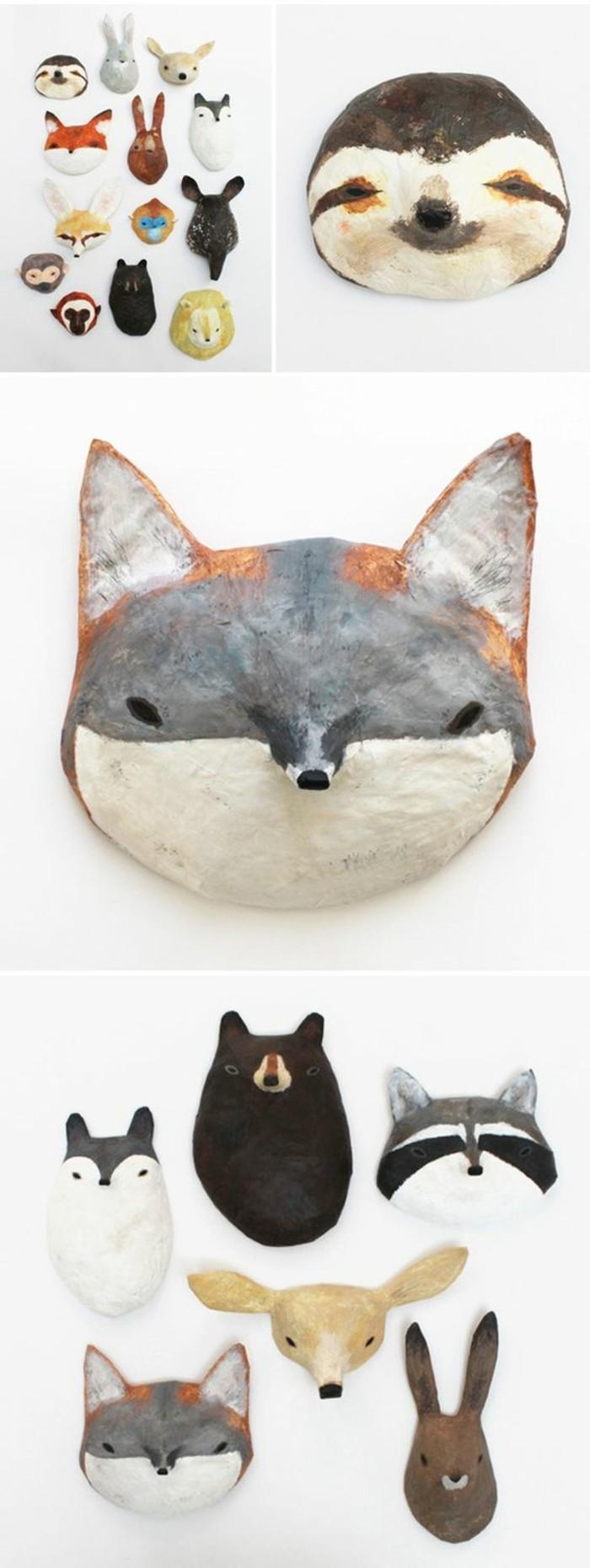 des-masques-en-papier-maché-représentant-des-tetes-d-animaux-comment-faire-du-papier-maché-resized