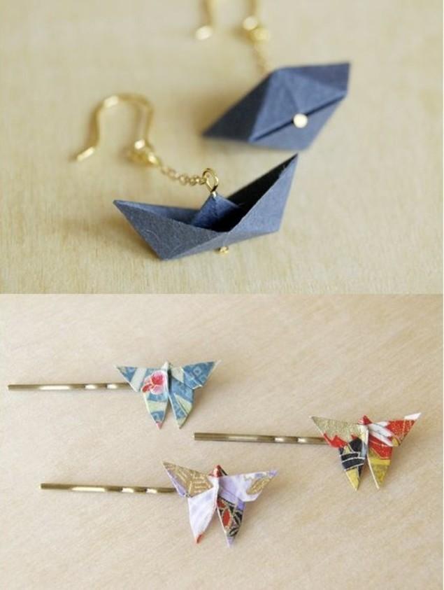 1001 inspirations pour fabriquer une boucle d 39 oreille diy - Fabriquer un bateau en papier ...