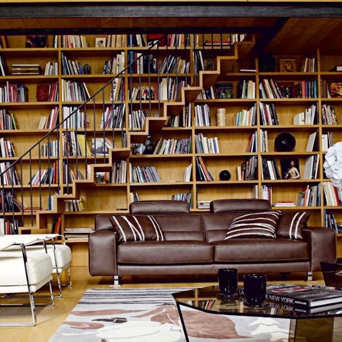 ▷ 1001+ Idées   Bibliothèque Escalier – Des Marches Et Des Livres