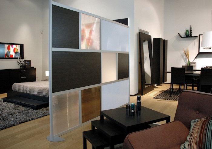 etagere separation chambre separer une piece rangement multicase meuble