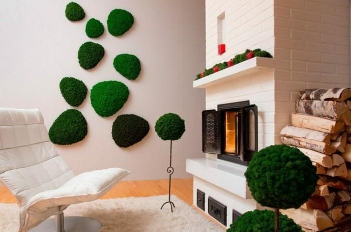 1001 id es pour un art v g tal avec des graffiti en mousse for Decoration murale vegetale