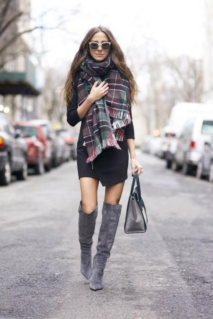 fashion-tendance--tenue-hiver-femme-robe-hiver-manches-longues