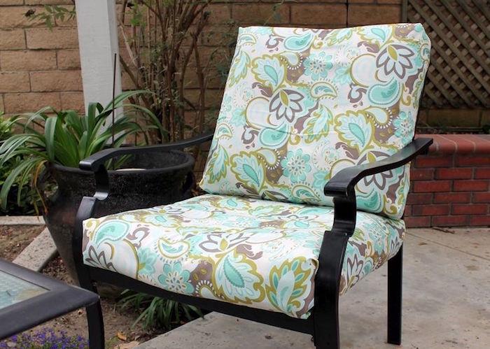 fauteuil personnalisé housse de chaise coussin siège couture idée deco