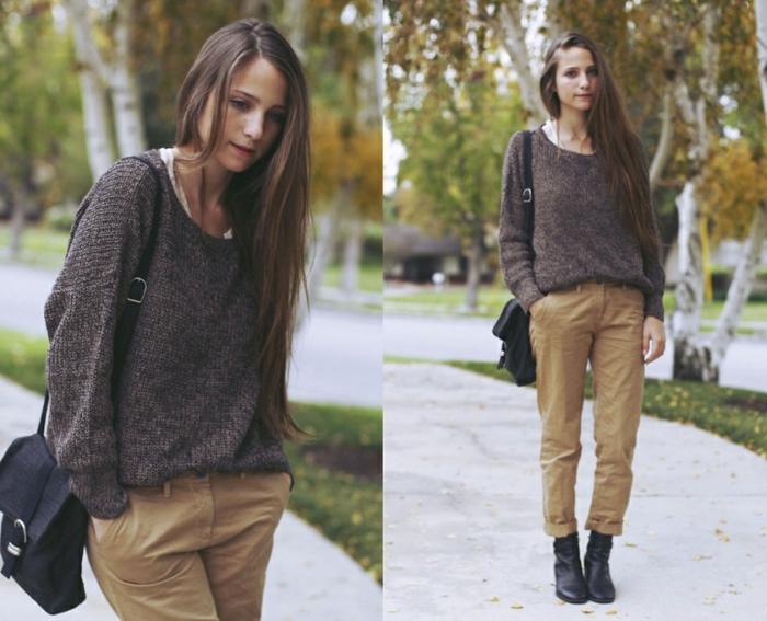 femme-bien-habillée-tenue-d'automne-avec-un-sac-à-main-noir-pull