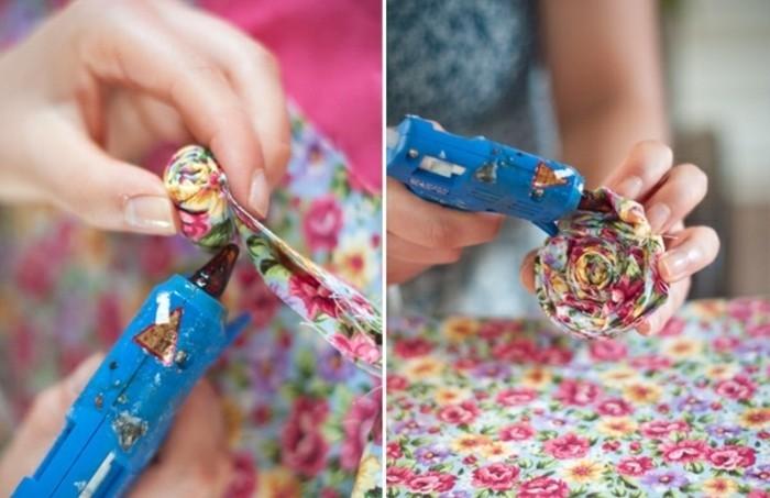 fleur-de-tissu-enrouler-une-bande-de-tissu-pour-former-une-fleur-idee-bricolage-fleur-diy