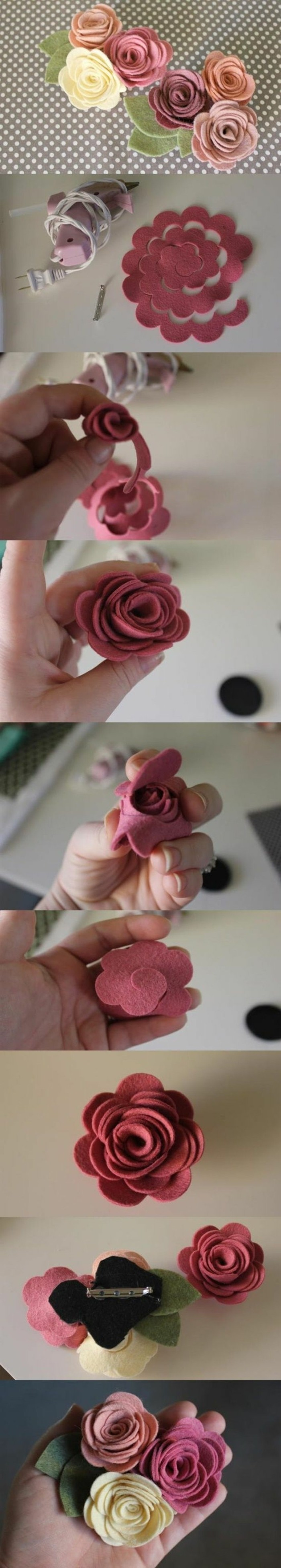 fleur-en-tissu-tuto-comment-faire-des-fleurs-en-tissu-feutrine-modele-roses-en-feutrine-avec-une-barrette-accessoire-cheveux-femme