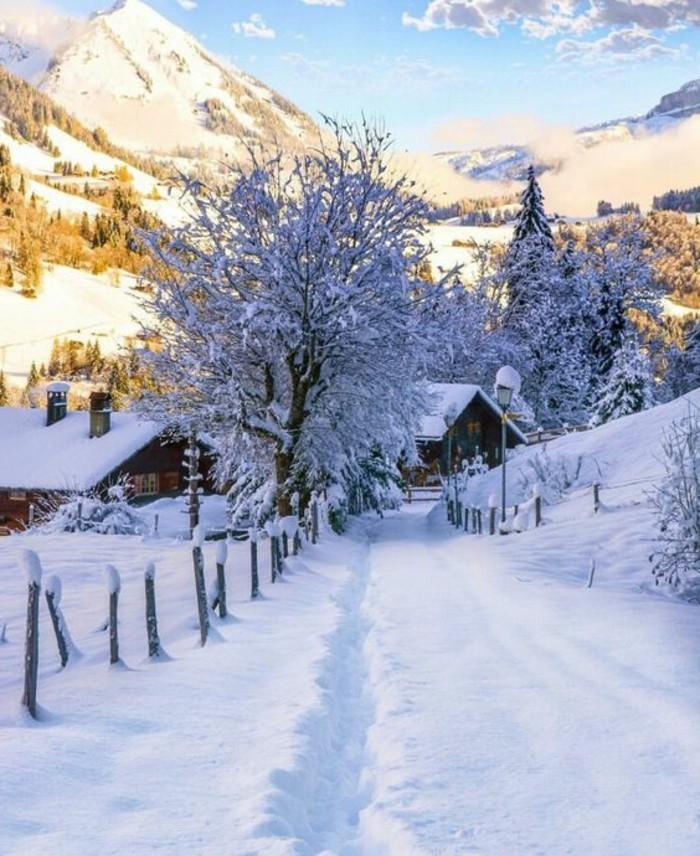 fonds-d-écran-hiver-cabines-en-bois-dans-la-montagne-arbres-nature-d'hiver