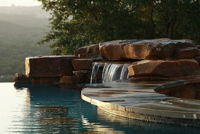 fontaine-piscine-coucher-de-soleil-inoubliable-extérieur-tropicale