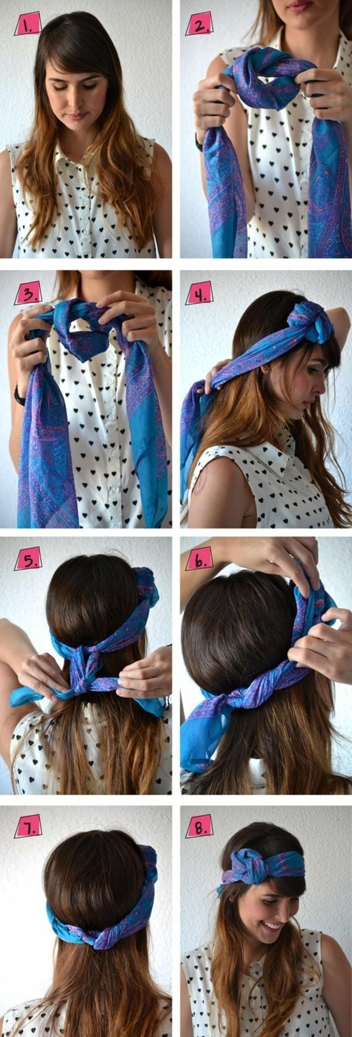 Foulard long pour cheveux