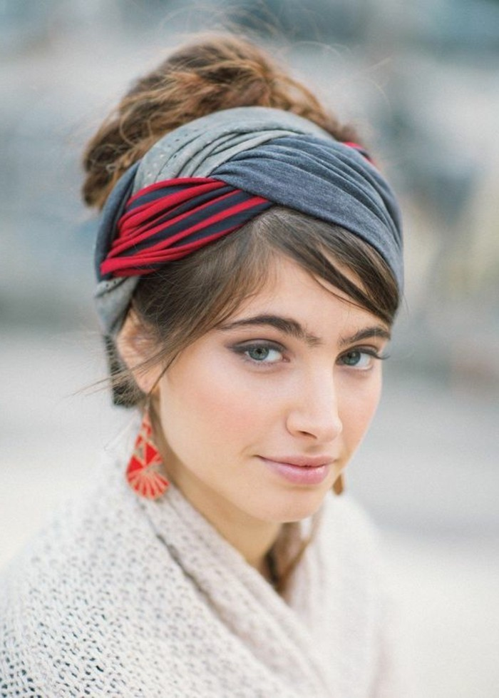 bandana cheveux femme elegant bandeau pliss avec nud with bandana cheveux femme coiffure des. Black Bedroom Furniture Sets. Home Design Ideas