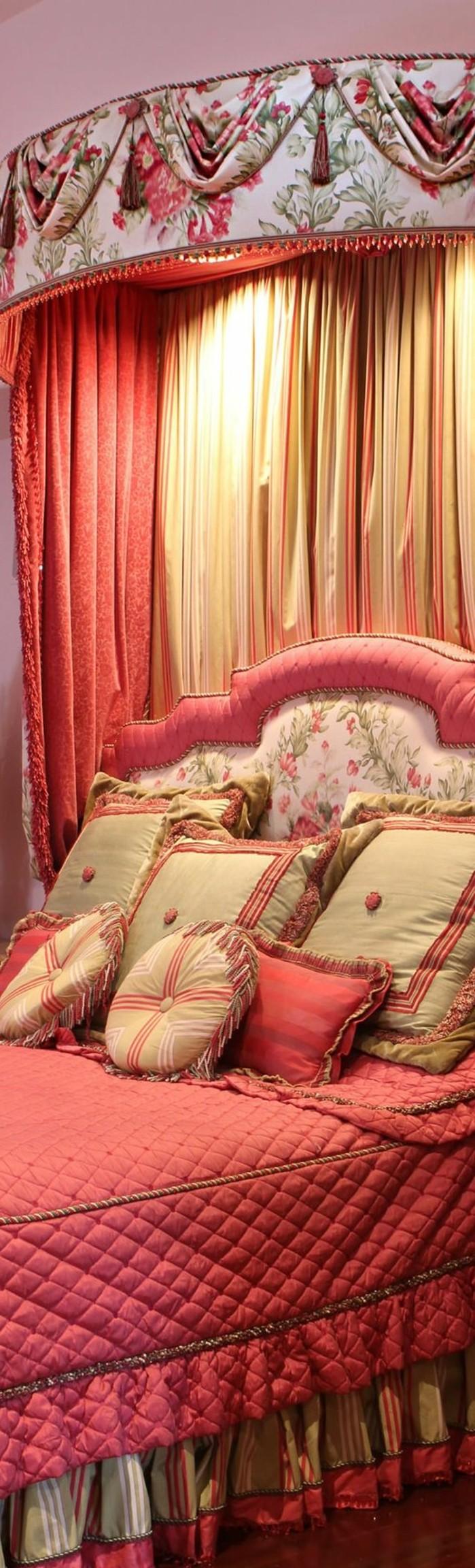 framboise-couleur-chambre-à-coucher-rose-féminin