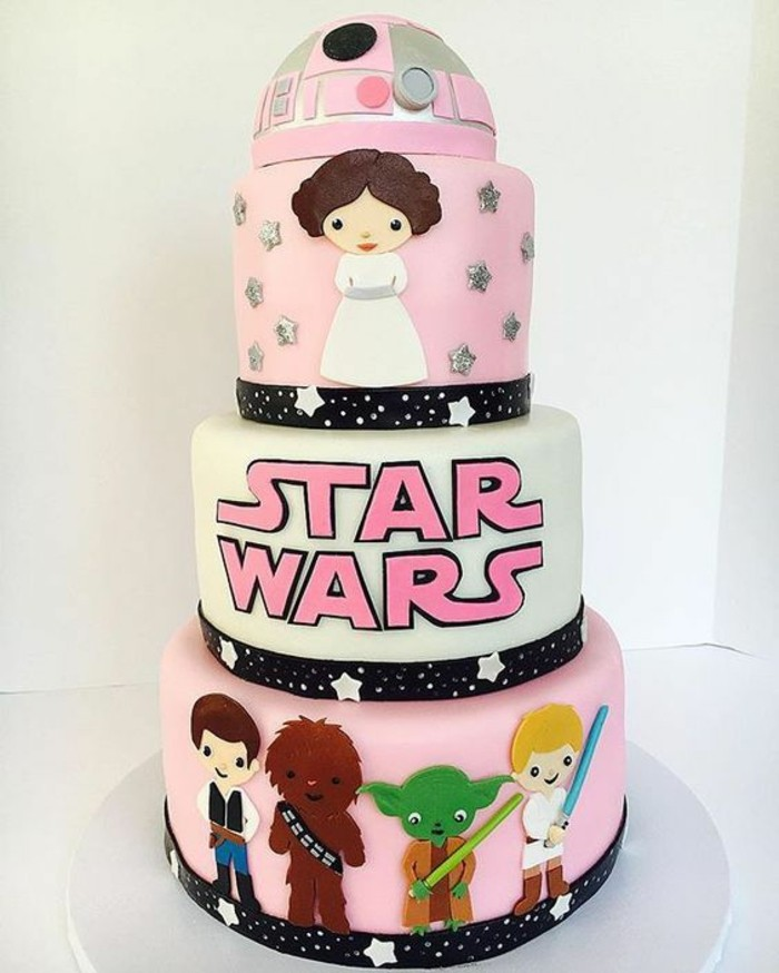 gateau-star-wars-fille-organiser-une-fête-star-wars