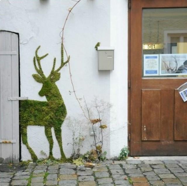 graffiti-sur-mur-blanc-cerf-en-mousse-vegetale