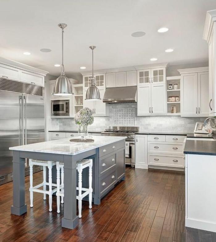 Off White Kitchen Cabinets With Light Floors: 1001+ Idées Pour Une Cuisine Relookée Et Modernisée