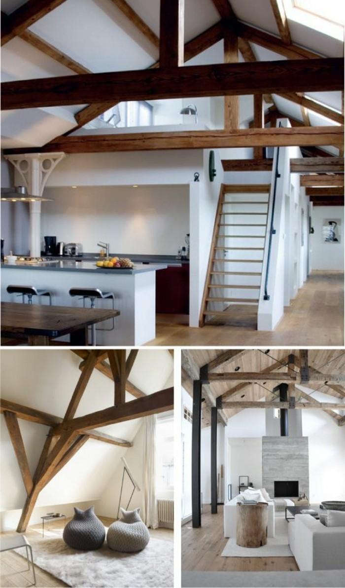 grange-renovee-poufs-echelle-tapis-canape-gris-plafond-avec-poutre-en-bois