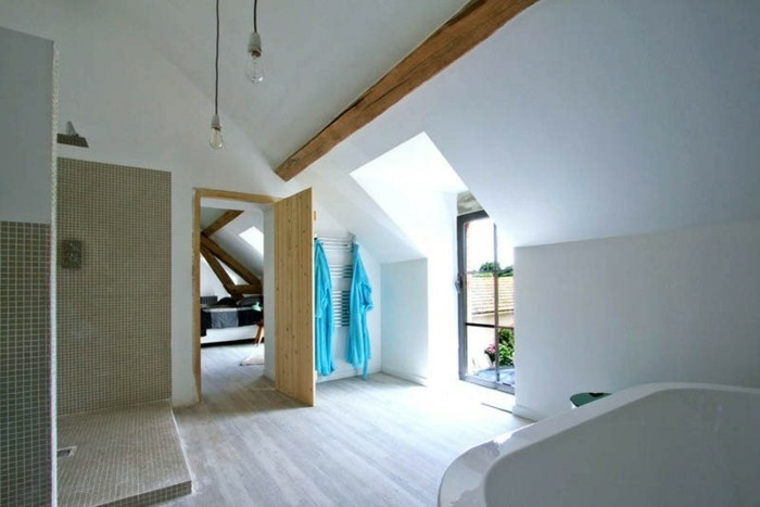 grange-renovee-salle-de-bain-spacieuse-lumiere-naturelle-porte-en-bois