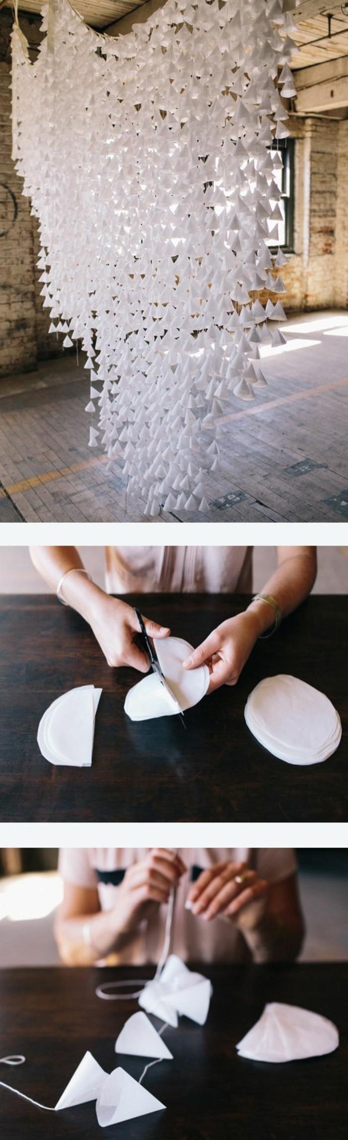 guirlande-en-papier-simple-a-realiser-des-petits-cones-de-papier-relies-avec-une-ficelle-un-bel-exemple-de-guirlande-diy-mariage