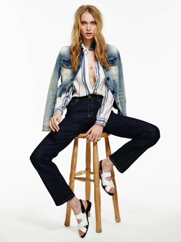 habillement-classe-pour-femmes-comment-s-habillé-chaise-bois
