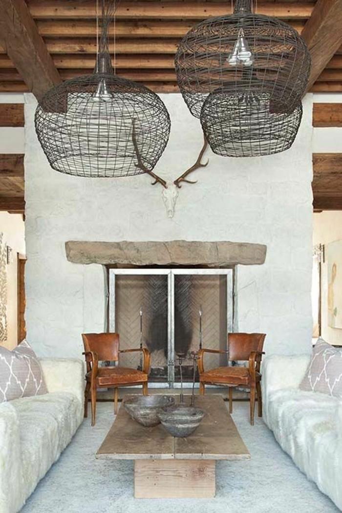 1001 id es pour transformer une chemin e rustique en moderne. Black Bedroom Furniture Sets. Home Design Ideas