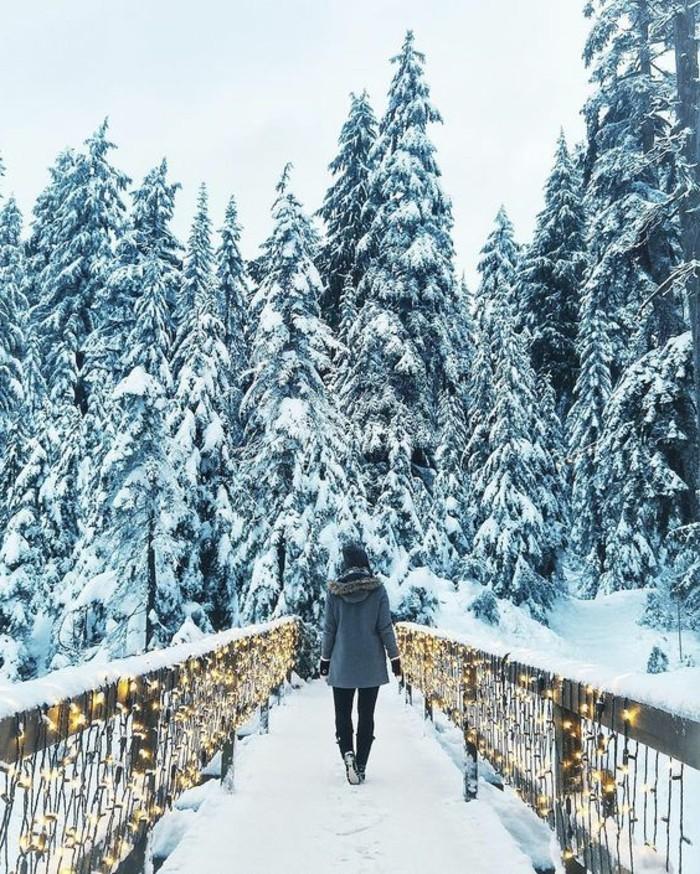hauteur-neige-sentier-vers-la-foret-guirlandes-lumineuses-fille-en-manteau-et-bonnet-gris