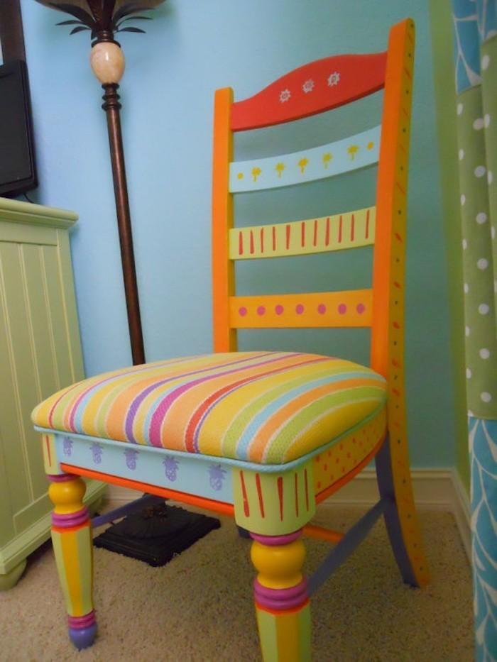 housse chaise deco peindre fauteil chaises enfants coussin enfant