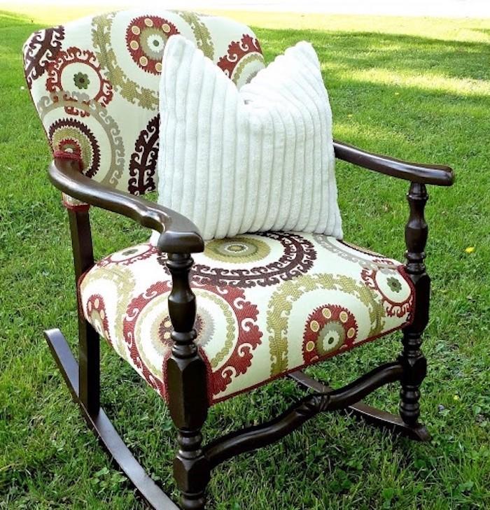 housse de chaise vintage idee couture fauteuil encien assise diy
