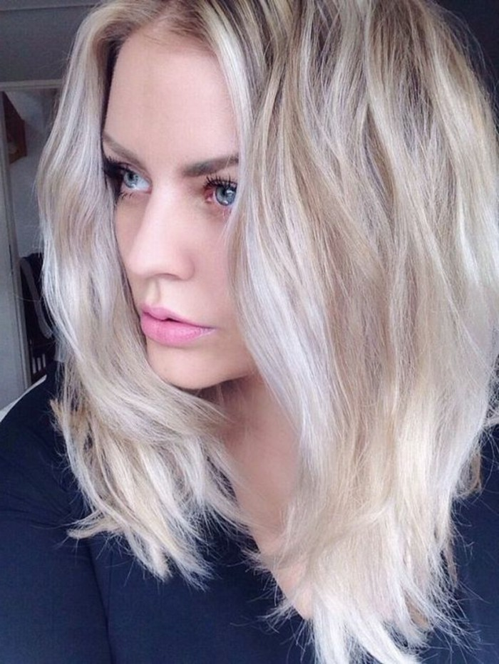 idee coloration blond platine couleur platine - Coloration Blond Platine