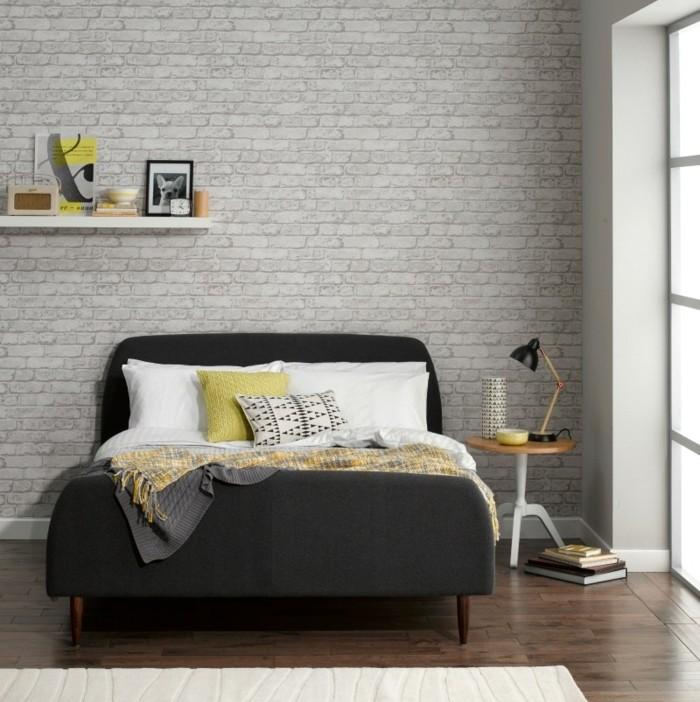 1001 id es pour une chambre scandinave styl e - Etagere murale gris anthracite ...