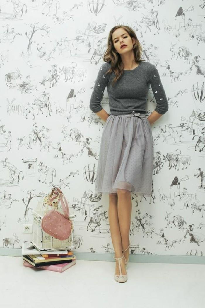 idée-comment-s-habiller-classe-comment-s-habiller-a-la-mode-idée-chic-jupe