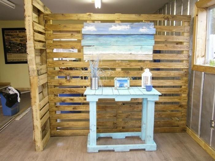 idée fabriquer séparateur pièce diy bois palette séparer meuble séparation pieces amovible diy