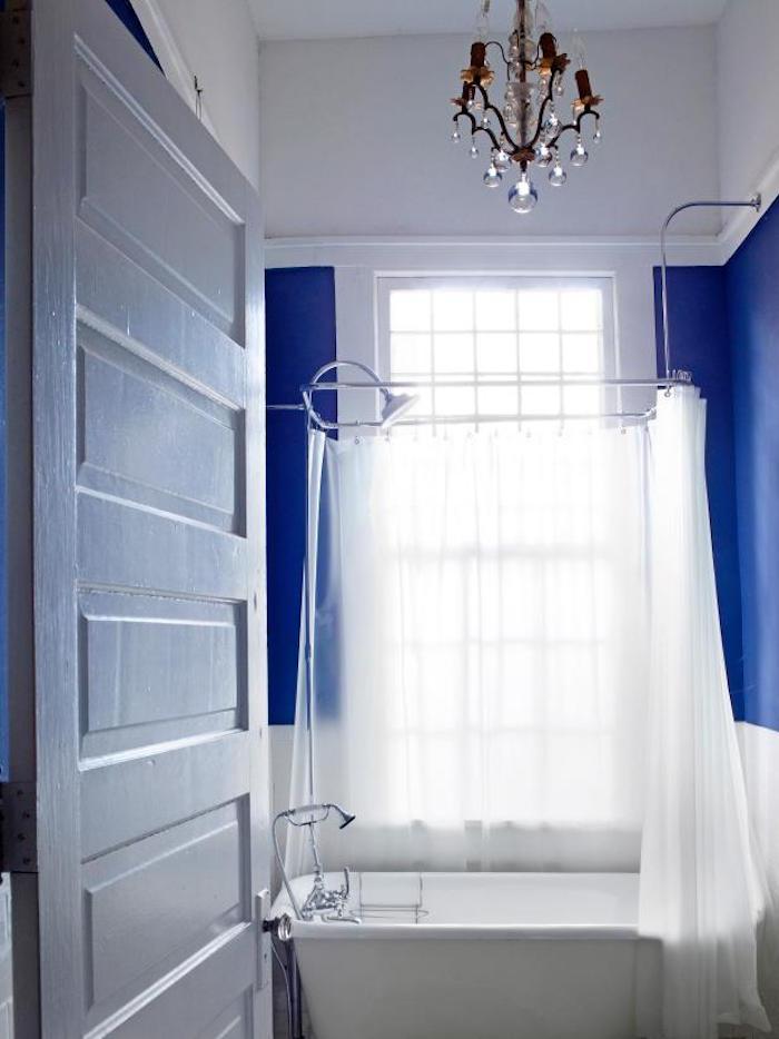 idées petite salle de bain avec baignoire agencement decoration exemple