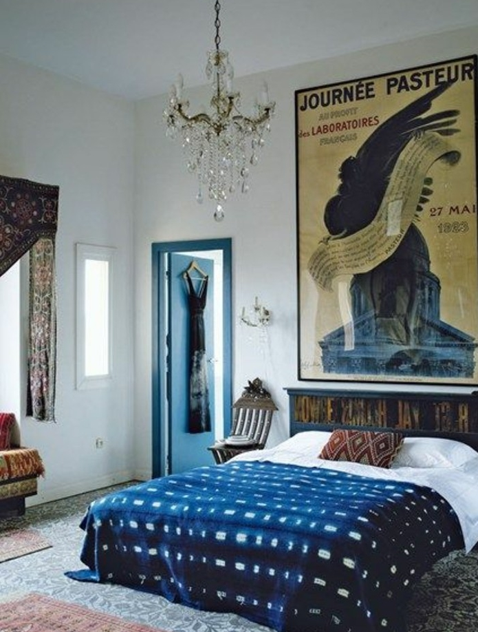 1001 id es pour une d co maison couleur indigo. Black Bedroom Furniture Sets. Home Design Ideas