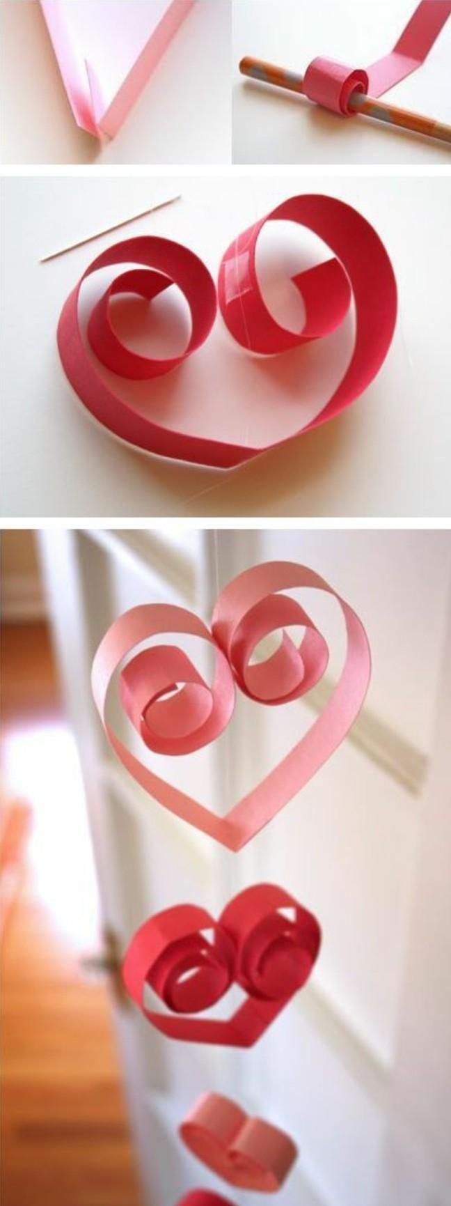 1001 id es de guirlande en papier pour une d co flashy et joyeuse - Idee pour saint valentin ...