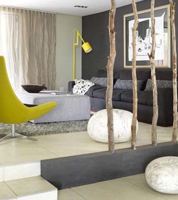 idee separateur de piece design original branches arbres meuble