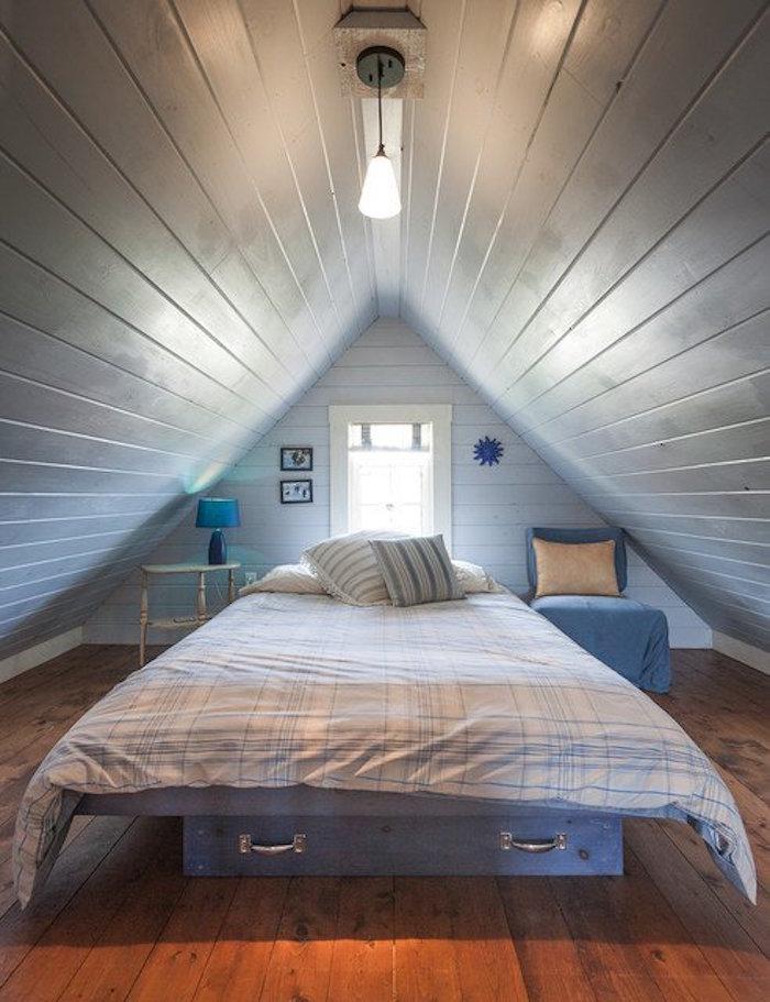 installer petite chambre dans comble aménagement combles perdus habitable