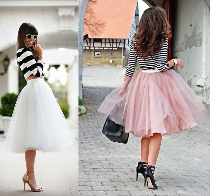 jupe-tutu-femme-jupe-rose-et-blouse-a-rayures-tenue-dete