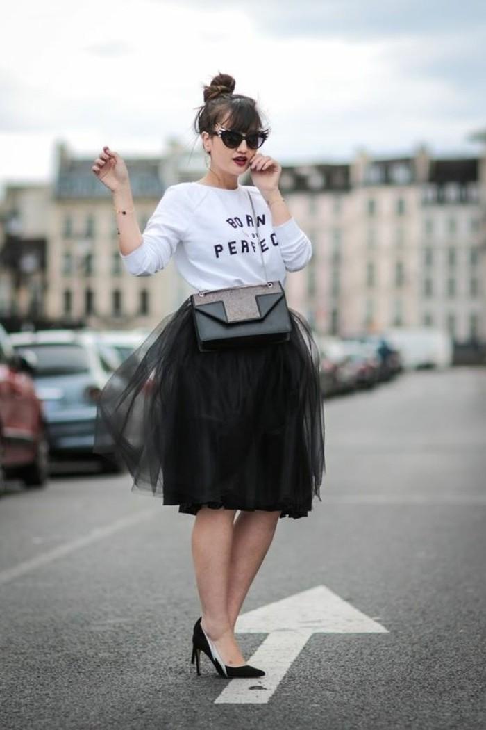 jupe-tutu-jupe-tulle-noire-t-shirt-fashion-escarpins-noirs