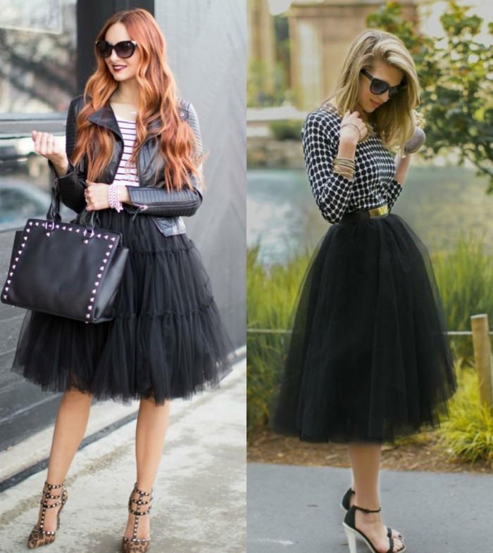 jupe-tutu-noire-blouse-grise-chaussures-a-talons-tenue-de-princesse-moderne