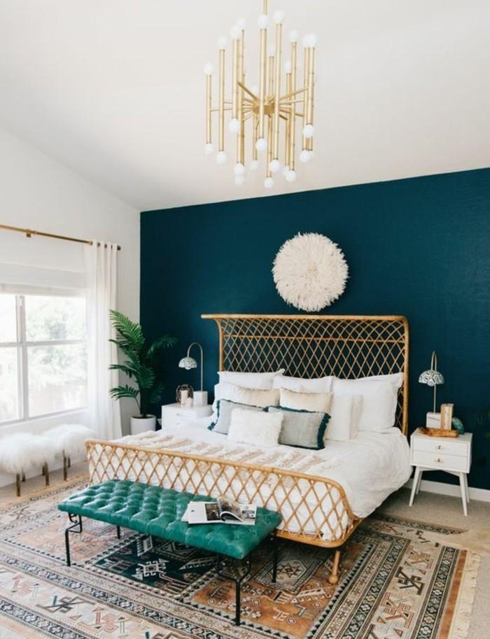 Elegant Chambre Bleu Canard, Pétrole Ou Paon U2013 Trois Nuances Et 54 Idées Déco ...