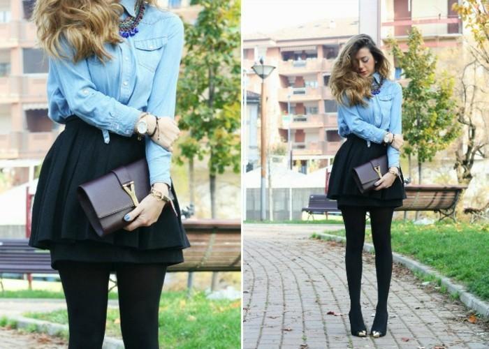 look-chemise-blanche-vision-chic-feminine-avec-une-jupe-noire