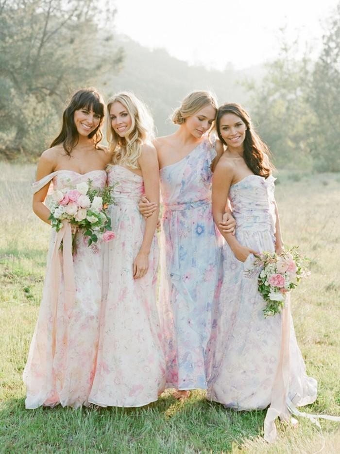 1001 id es pour la robe pastel pour mariage trouvez les for Robes de demoiselle d honneur aqua pour mariage sur la plage