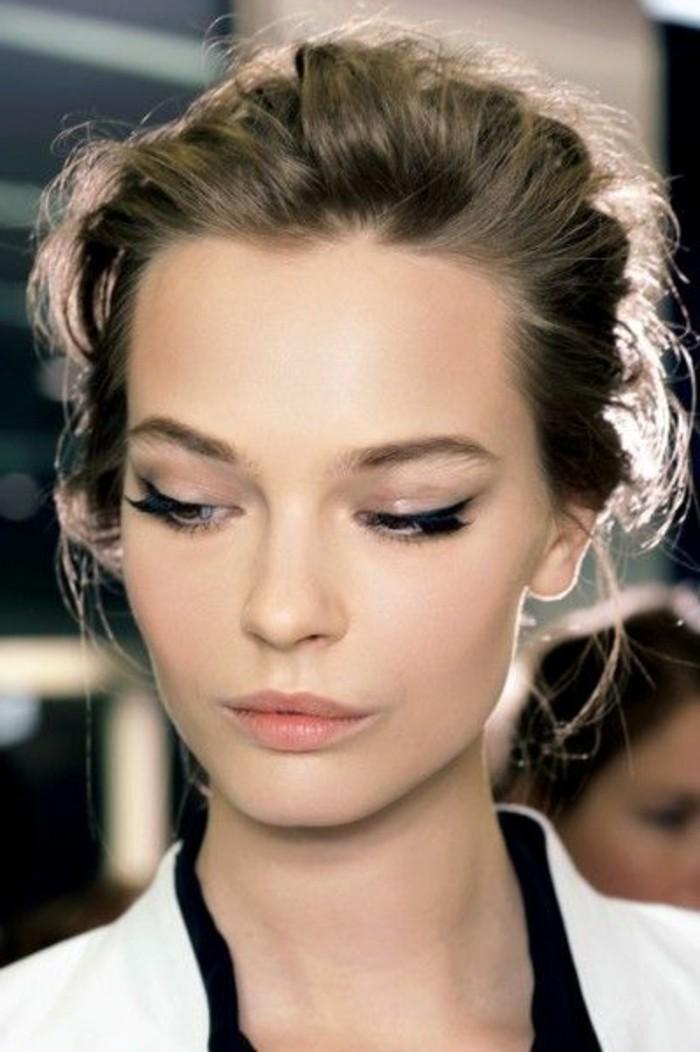maquillage,chat,femme,cheveux,ramasses,se,faire,le,