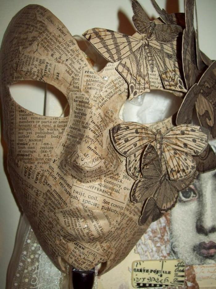 masque-carnaval-enveloppée-de-bandes-de-papier-journal-idée-comment-faire-du-papier-maché-tuto-resized