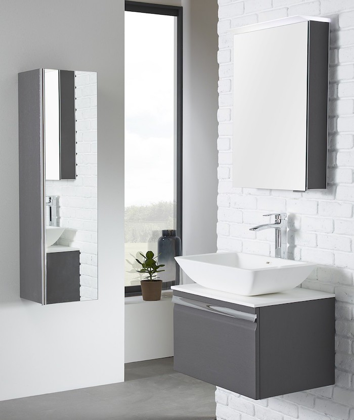 meuble haut miroir salle de bain gallery of miroir salle de bain lumineux with meuble haut. Black Bedroom Furniture Sets. Home Design Ideas