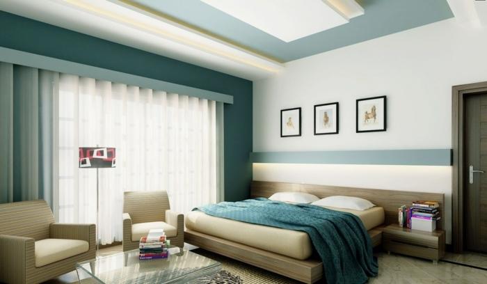 1001 id es pour une chambre bleu canard p trole et paon sublime. Black Bedroom Furniture Sets. Home Design Ideas