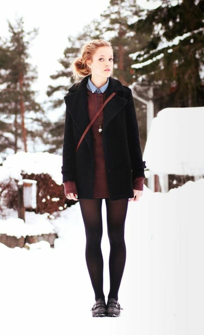 mode-tendances-mode-jupe-hiver-2017-femme-moderne-neige