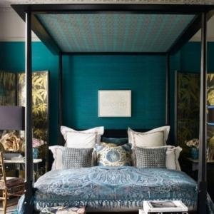 Chambre bleu canard, pétrole ou paon - trois nuances et 54 idées déco