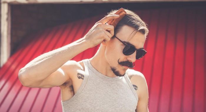 moustache bouc homme barbe tendance coupe pompadour hipster