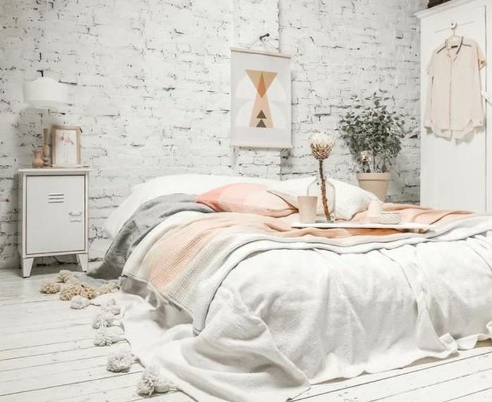 1001 id es pour une chambre scandinave styl e for Mobilier de chambre blanc